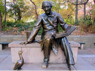 Denkmal von Hans-Christian Andersen im Central-Park New York